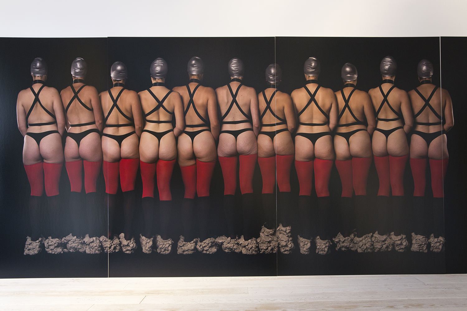 Claire Lambe, Miss Universal (2015), C Type photograph, mounted on foam core (four panels) 120 x 172cm.  Courtesy of the artist and Sarah Scout Presents, Melbourne
