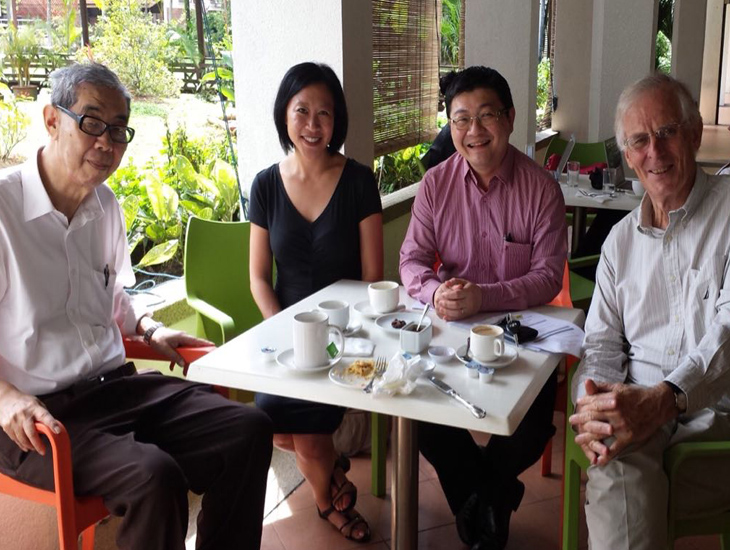 Lee Poh Ping, ASEAN specialist Alice Ba, foreign policy analyst Kuik Cheng-Chwee and Asialink's Anthony Milner - Lake Club, Kuala Lumpur, 2015