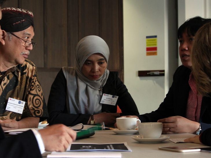 2016 Australia-Indonesia Leaders Program participants discussing