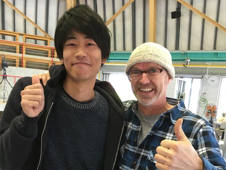 John White and Takeyoshi Mitsui in Japan