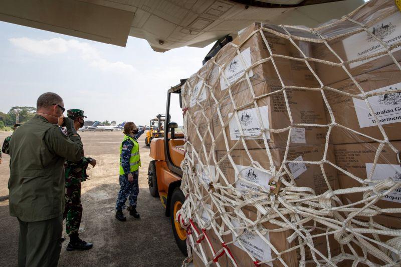 Australian aid arriving in Jakarta, Indonesia - 2020