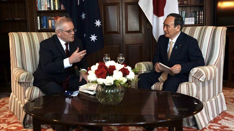 PMs Morrison and Suga