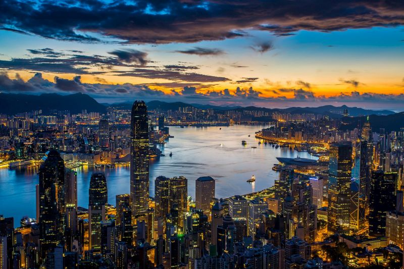 HK skyline and Victoria Harbour