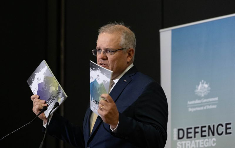 PM Scott Morrison, Defence Strategic Update announcement - 2020