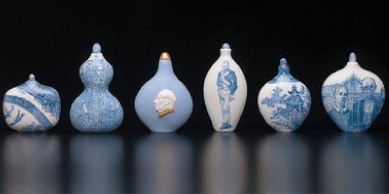Robin Best, Silk Route 2006 unglazed cast porcelain in ceramic pencil, dimensions variable photo: Grant Hancock