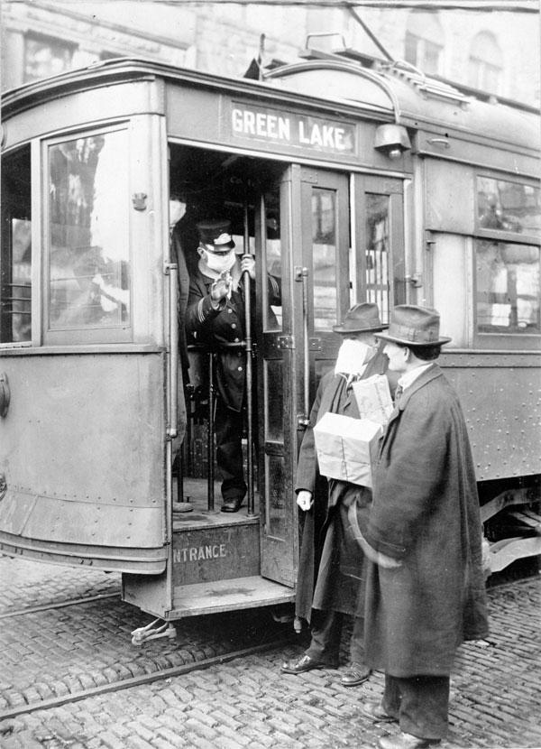 Spanish flu tram
