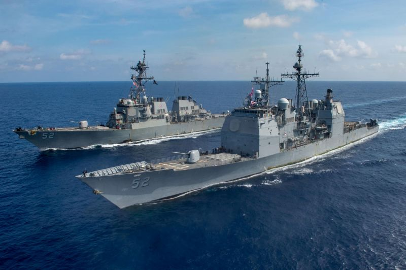 USS Bunker Hill and USS Barry