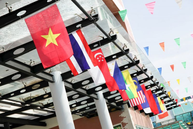 Flags of the ASEAN nations