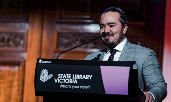 Writer and Chef Adam Liaw delivers a keynote speech at the Asian-Australian Leadership Summit
