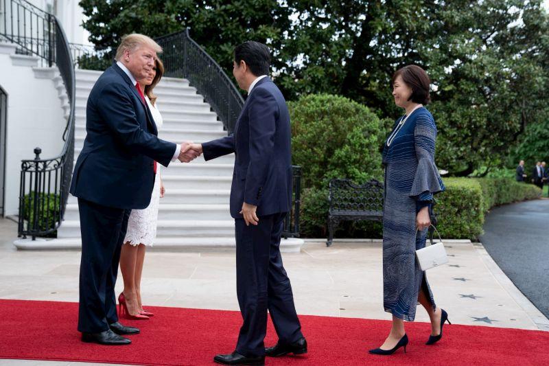 Shinzo Abe, Donald Trump, and First Ladies