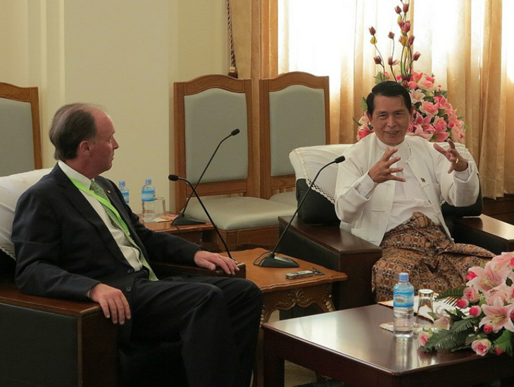 Sid Myer talks to Myanmar President U Thein Sein