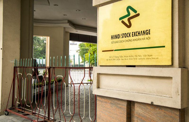 A closed Hanoi Stock Exchange