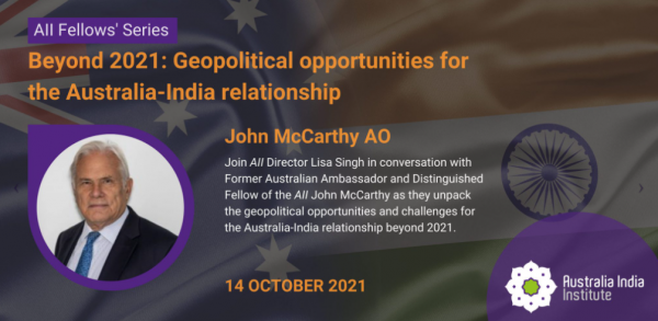 Image for Beyond 2021: Geopolitical opportunities for the Australia & India relationship