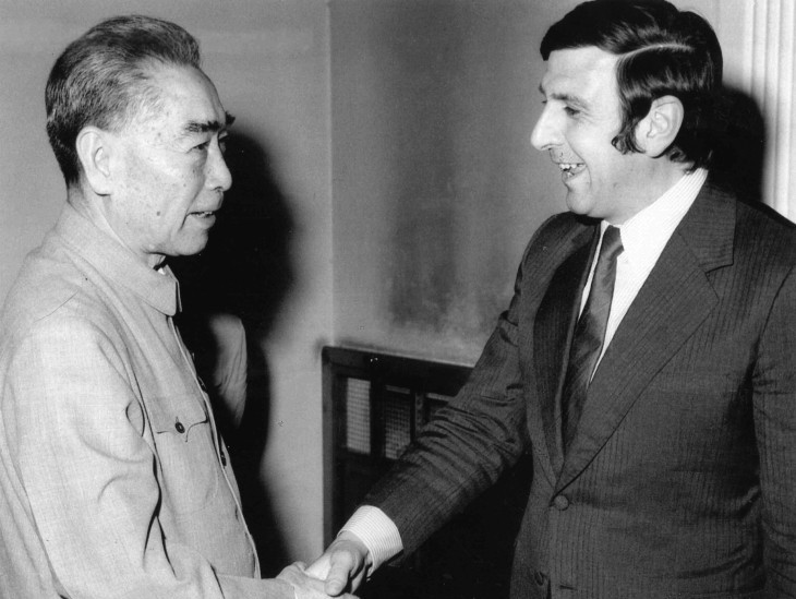Dr Stephen Fitzgerald and Premier Zhou Enlai