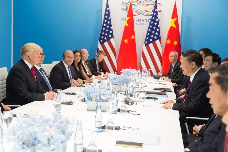 Trump and Xi, 2017 G20