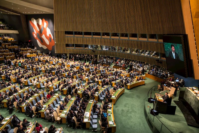 Xi speaks at UN General Assembly